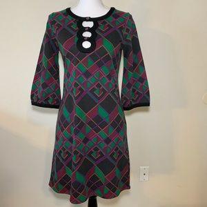 BCBGMaxAzaria retro inspired dress w/pockets